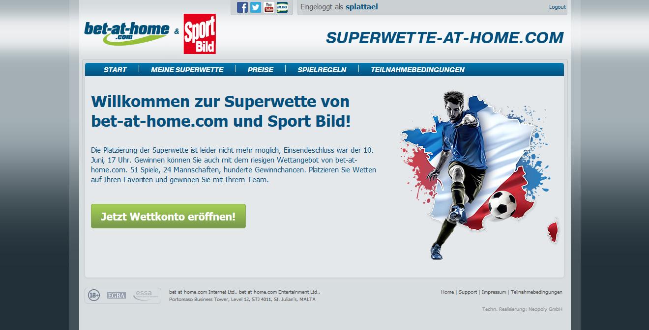 Neopoly - Bet at home EM Superbet