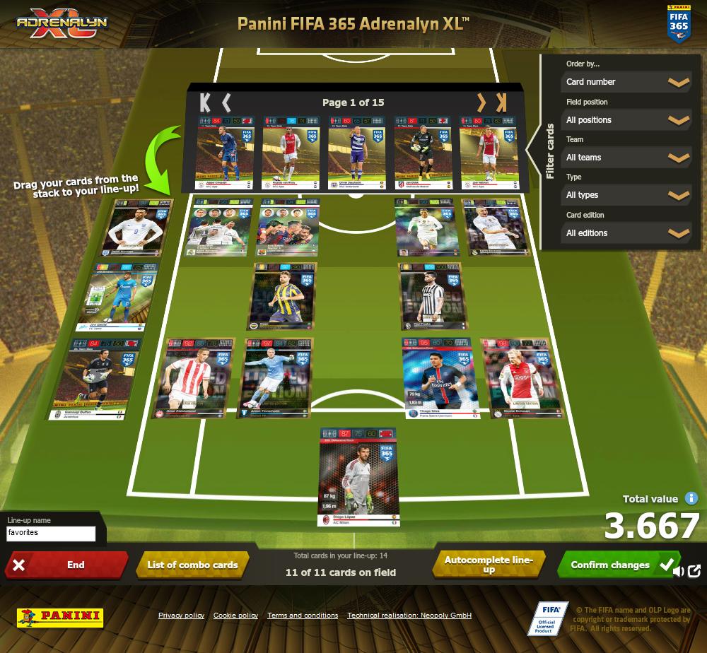 Neopoly - Panini FIFA 365 Adrenalyn XL™
