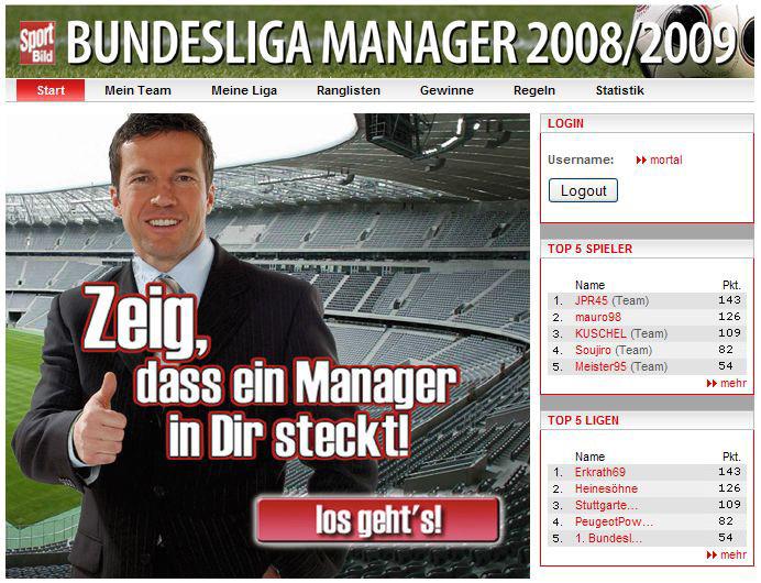 Bundesligamanager Sportbild