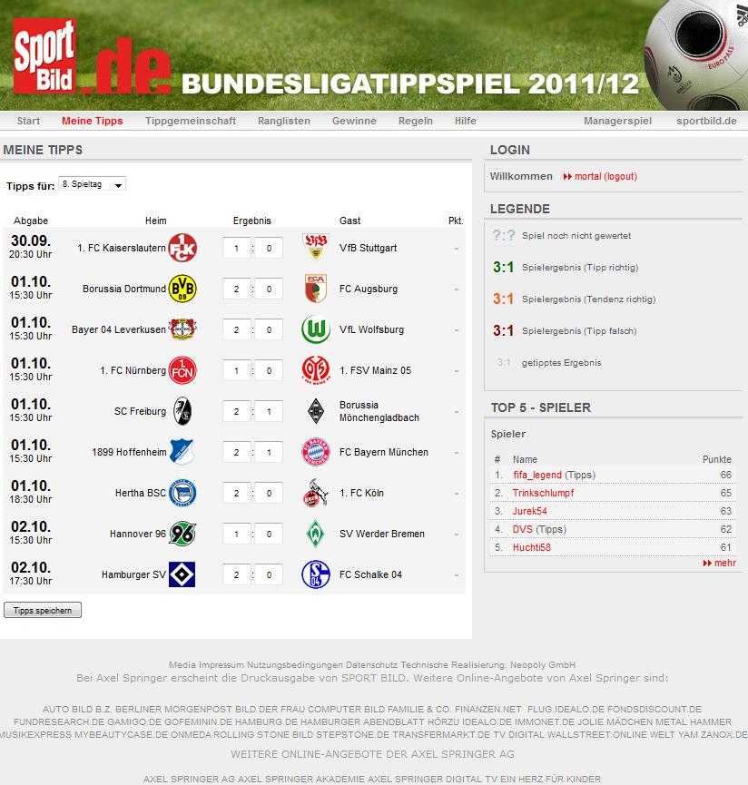 Tipp Trend Bundesliga