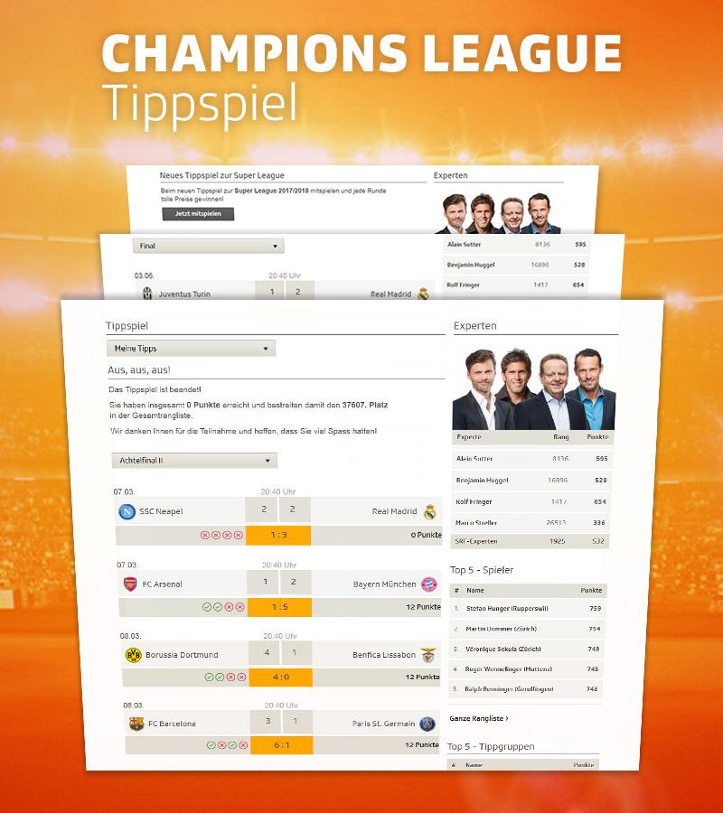 Neopoly - SRF Champions League Predictor 2017/18
